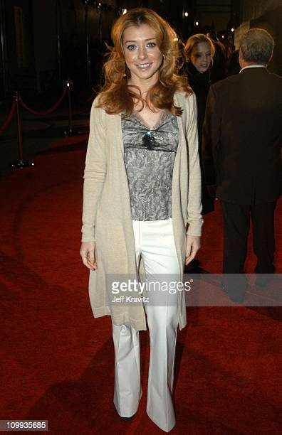 Alyson Hannigan during Comedy Central's First Annual Commies Awards Arrivals at Sony Studios in Culver City California United States