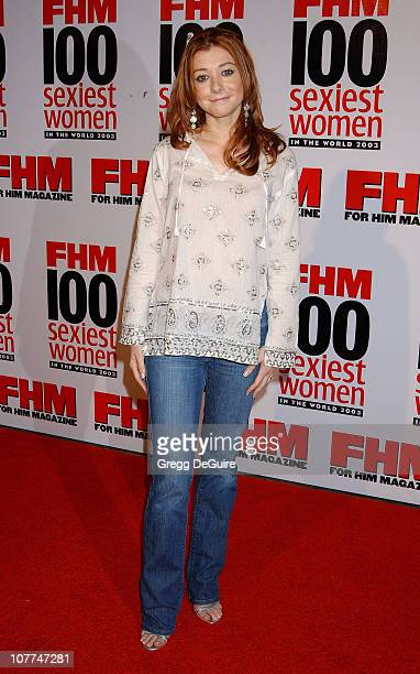Alyson Hannigan during FHM Magazine Hosts The '100 Sexiest Women in the World' Party at Raleigh Studios in Hollywood California United States