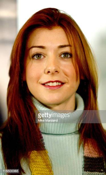 Alyson Hannigan during Get Into London Theatre Photocall at Greater London Authority City Hall in London Great Britain