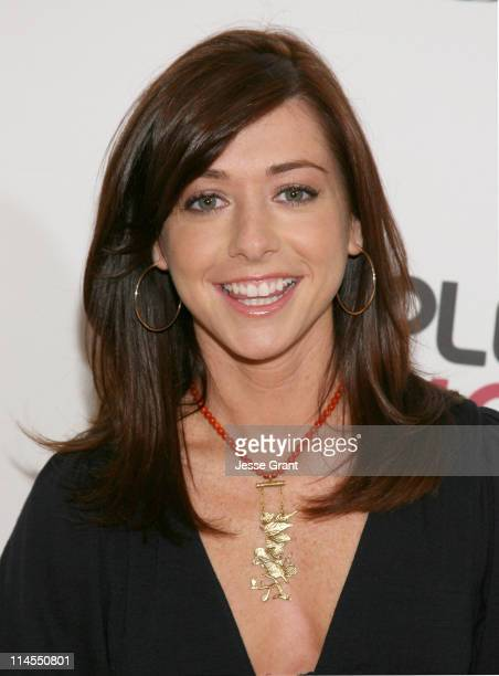 Alyson Hannigan during Isaiah Washington Kate Walsh Neil Patrick Harris and Alyson Hannigan Announce the 33rd Annual People's Choice Awards...