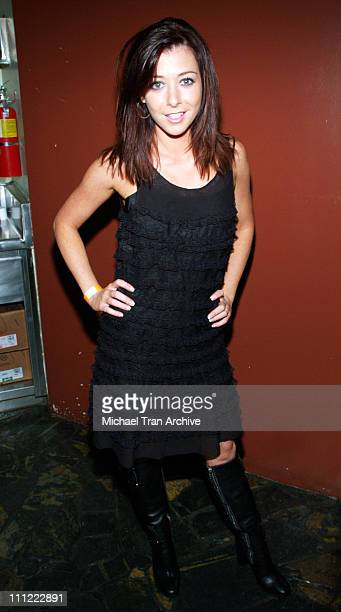 Alyson Hannigan during Karaoke Fundraiser to Benefit The Art of Elysium at The Maple Drive in Beverly Hills California United States