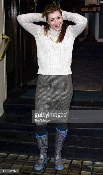 Alyson Hannigan during Photocall For The New West End Production Of 'When Harry Met Sally' at The Theatre Royal Haymarket in London Great Britain