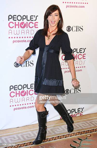 Alyson Hannigan during The 33rd Annual People's Choice Awards Nominations at The Peninsula Hotel Veranda Room in Beverly Hills California United...