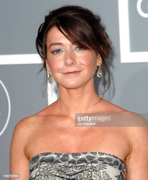 Alyson Hannigan during The 49th Annual GRAMMY Awards Arrivals at Staples Center in Los Angeles California United States