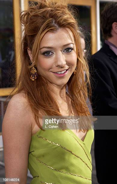 Alyson Hannigan during World Premiere of American Wedding Red Carpet in Universal City California United States