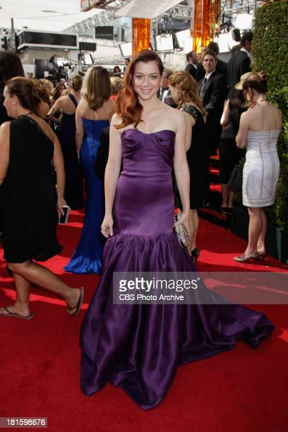 Alyson Hannigan from How I Met Your Mother on the red carpet for the 65th Primetime Emmy Awards which will be broadcast live across the country...