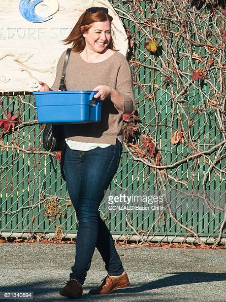 Alyson Hannigan is seen on November 05 2016 in Los Angeles California