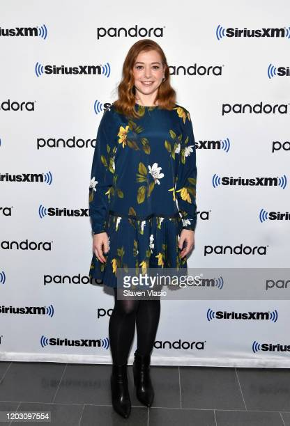 Alyson Hannigan visits SiriusXM Studios on January 30 2020 in New York City