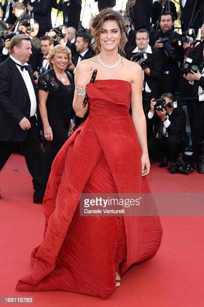Alyson Le Borges attends the Premiere of 'Blood Ties' during the 66th Annual Cannes Film Festival at the Palais des Festivals on May 20 2013 in...