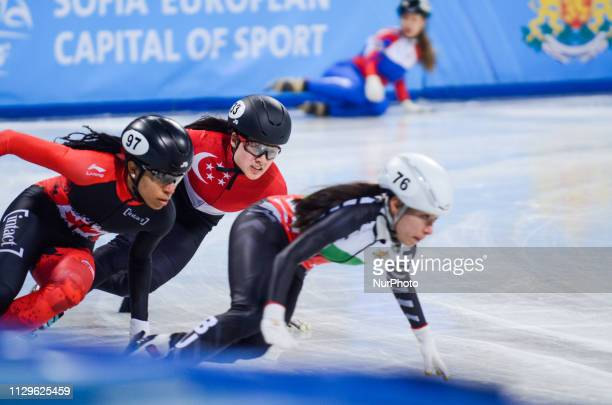 Alyson MAZUR Nicole during distribution of seats of the women's 1500m during the ISU Short Track World Championships 2019 Arena Armeec Sofia Bulgaria...