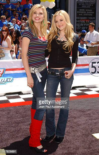 Alyson Michalka and Amanda Michalka of Aly AJ during Herbie Fully Loaded Los Angeles Premiere Arrivals at El Capitan Theater in Hollywood California...