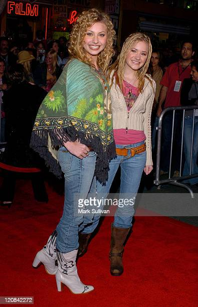 Alyson Michalka and Amanda Michalka of Aly AJ during The Pacifier Los Angeles Premiere Arrivals at The El Capitan in Hollywood California United...