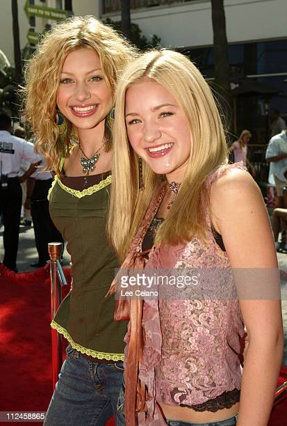 Alyson Michalka and Amanda Michalka of Aly AJ during Thunderbirds Premiere Los Angeles Red Carpet at Universal Studios City Walk in Universal City...