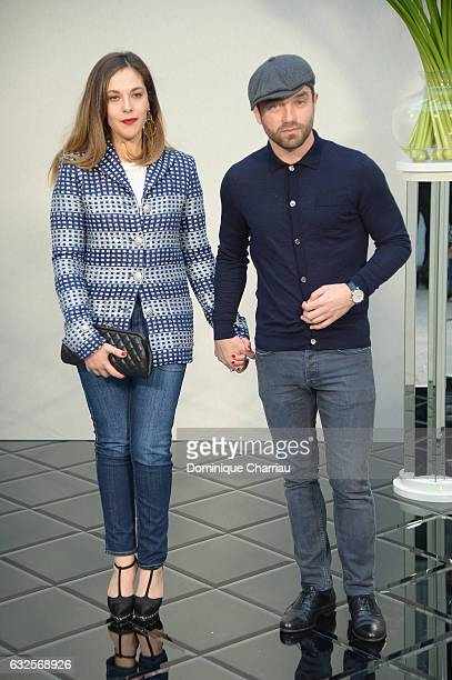 Alyson Paradis and Guilaume Gouix attend the Chanel Haute Couture Spring Summer 2017 show as part of Paris Fashion Week on January 24 2017 in Paris...
