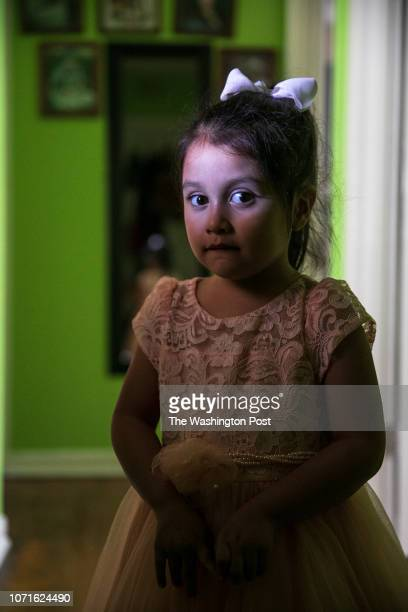 Alyson poses for a portrait in her grandparents' home Minerva Cisneros's surviving children live with their grandparents in Fort Worth CREDIT Ilana...