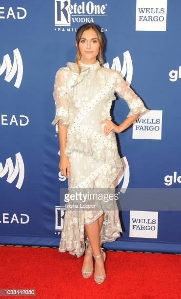Alyson Stoner arrives at the 2018 GLAAD Gala San Francisco at Hyatt Regency San Francisco on September 15 2018 in San Francisco California