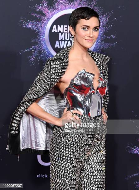 Alyson Stoner arrives at the 2019 American Music Awards at Microsoft Theater on November 24 2019 in Los Angeles California
