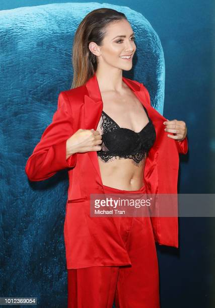 Alyson Stoner arrives to the Warner Bros Pictures and Gravity Pictures' premiere of 'The Meg' held at TCL Chinese Theatre IMAX on August 6 2018 in...