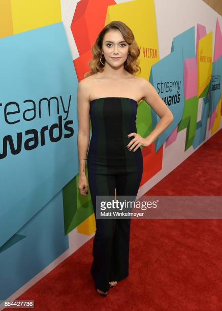 Alyson Stoner at the 2017 Streamy Awards at The Beverly Hilton Hotel on September 26 2017 in Beverly Hills California