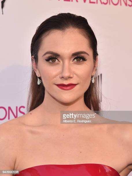 Alyson Stoner attends the premiere of Sony Pictures Home Entertainment and Off The Dock's 'Cover Versions' at The Landmark Regent on April 9 2018 in...