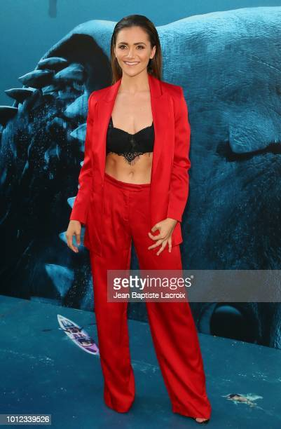 Alyson Stoner attends the premiere of Warner Bros Pictures and Gravity Pictures' Premiere of 'The Meg' on August 06 2018 in Hollywood California
