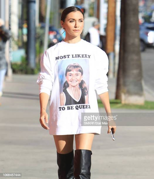 Alyson Stoner is seen on December 4 2018 in Los Angeles CA