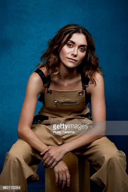 Alyson Stoner poses for a portrait at the Getty Images Portrait Studio at the 9th Annual VidCon US at Anaheim Convention Center on June 22 2018 in...