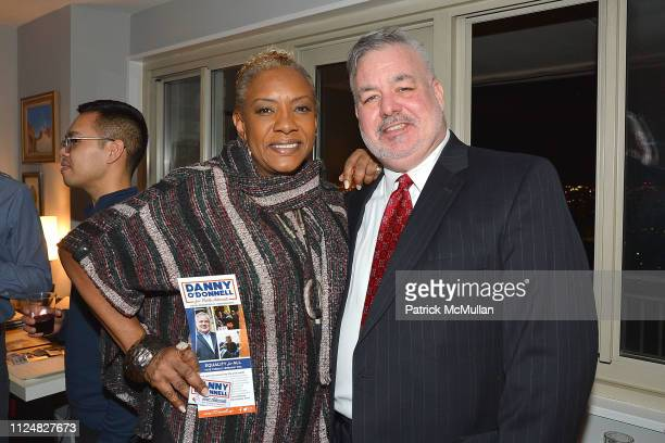 Alyson Williams and Danny O'Donnell attend the Danny O'Donnell For Public Advocate Event Before The February 26 Election at Private Residence on...
