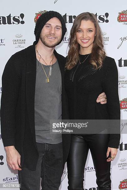 Alyssa Arce and Gregory Siff attend treats Issue 10 Holiday Brunch presented by Stella Artois and Chateau La Coste at Ysabel on December 13 2015 in...
