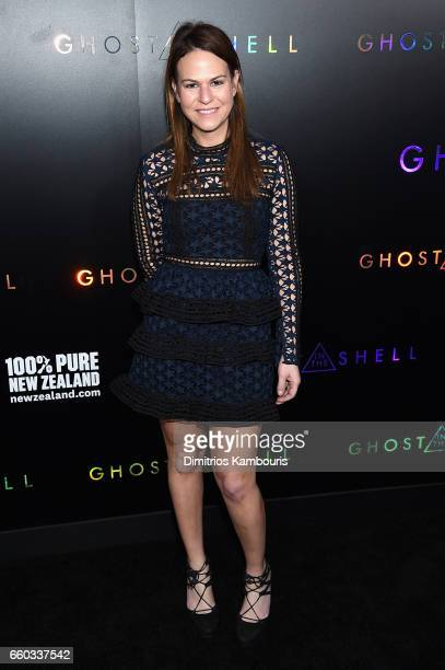 """Alyssa Baer attends the """"Ghost In The Shell"""" premiere hosted by Paramount Pictures & DreamWorks Pictures at AMC Lincoln Square Theater on March 29,..."""