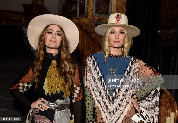Alyssa Bonagura and Ruby Stewart of The Sisterhood attend the Kimpton Hotels Restaurants a housewarming party to celebrate its arrival in the UK at...