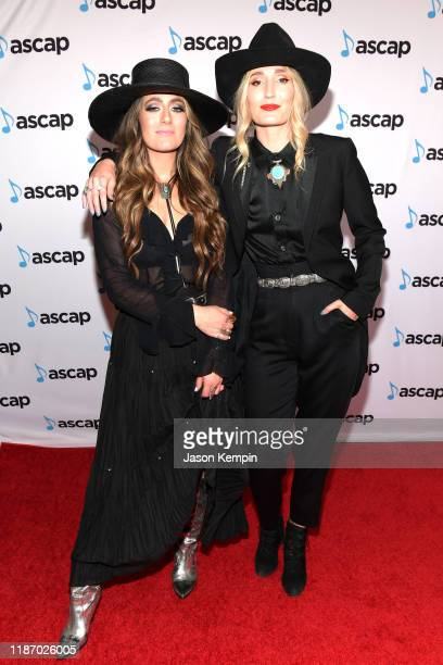 Alyssa Bonagura and Ruby Stewart of The Sisterhood Band attend the 57th Annual ASCAP Country Music Awards on November 11 2019 in Nashville Tennessee