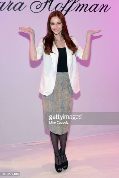 Alyssa Campanella attends the Mara Hoffman Fall 2013 fashion show during MercedesBenz Fashion Week at The Stage at Lincoln Center on February 9 2013...