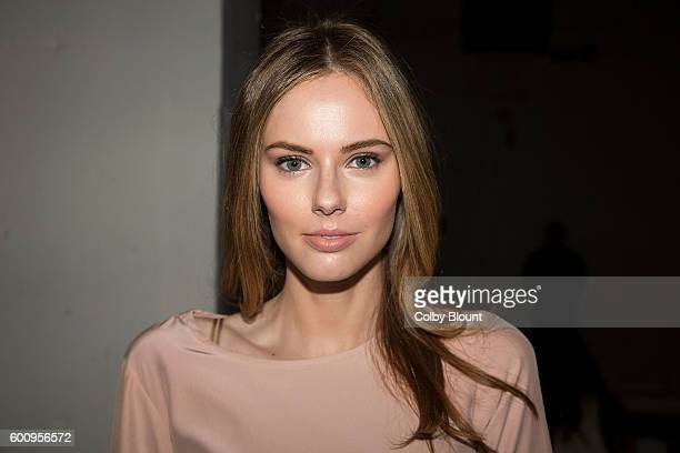 Alyssa Campanella attends the Noon By Noor fashion show during New York Fashion Week The Gallery Skylight at Clarkson Sq on September 8 2016 in New...