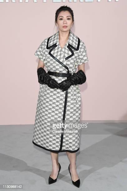 Alyssa Chia attends the Alberta Ferretti show at Milan Fashion Week Autumn/Winter 2019/20 on February 20 2019 in Milan Italy