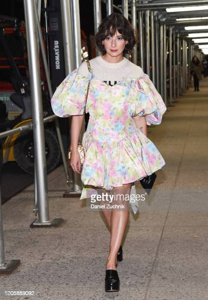 Alyssa Coscarelli is seen wearing a Marc Jacobs outfit outside the Marc Jacobs show during New York Fashion Week: A/W20 on February 12, 2020 in New...