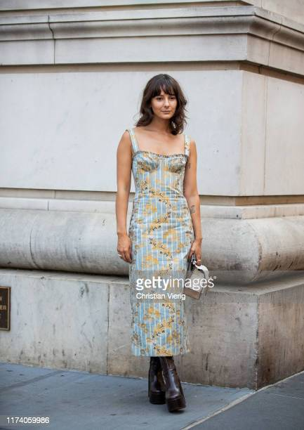Alyssa Coscarelli is seen wearing dress boots Boyy bag outside Brock Collection during New York Fashion Week September 2019 on September 11 2019 in...