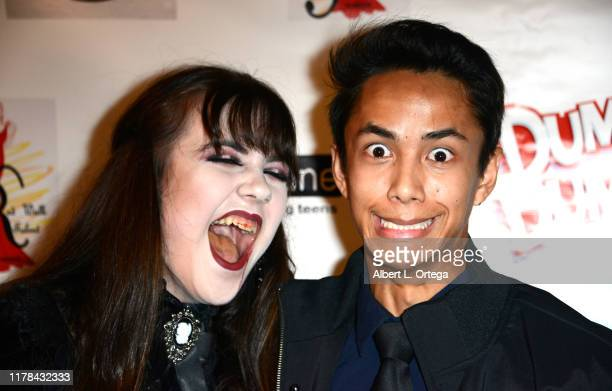 Alyssa de Boisblanc and Kevin Garner attend Mateo Simon's Annual Teen Line Charity Halloween Bash held at a Private Location on October 26 2019 in...