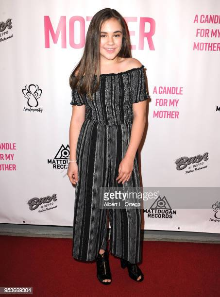Alyssa de Boisblanc arrives for a luncheon in honor of Mother's Day for the release of Pamela L Newton's 'A Candle For My Mother' held at Los Angeles...