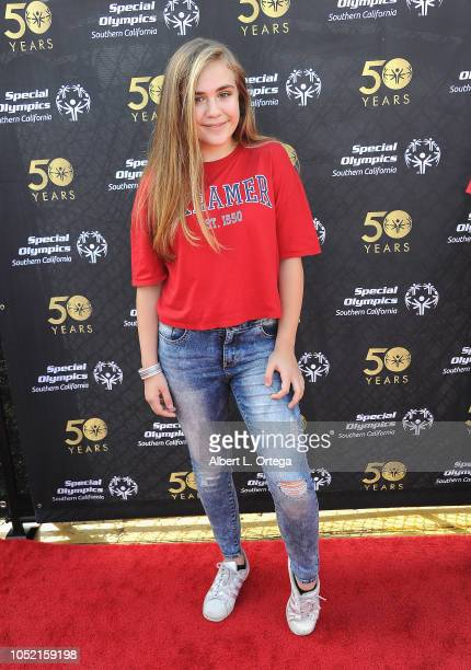 Alyssa de Boisblanc attends Special Olympics Pier Del Sol held at Pacific Park on the Santa Monica Pier on October 14 2018 in Santa Monica Californi