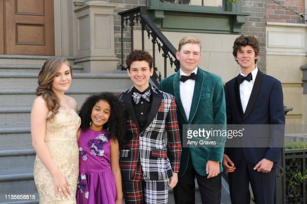 Alyssa de Boisblanc Jordyn Curet Jax Malcolm Connor Dean and Chase Mangum attend the 2019 Young Entertainer Awards at Steven J Ross Theatre on the...