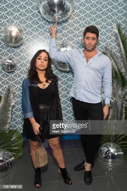 Alyssa DeMartino and Jacob Zucker attend Manhattan Magazine Men's Event with John David Washington at BMW of Manhattan on October 11 2018 in New York...
