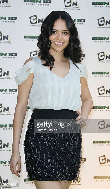 Alyssa Diaz arrives at the Ben 10 Awards at the Unicorn Theatre on November 15 2009 in London England The awards announce 10 winners to join a new...