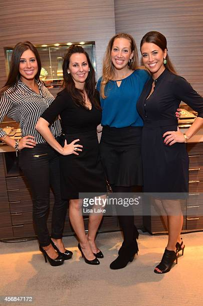 Alyssa Dipietro Kelly Finan Lauren Difelice and Auburn France attend InStore Shopping Event at David Yurman with Eagles Football players Earl Wolff...