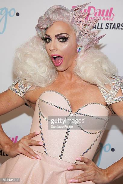 Alyssa Edwards attends RuPaul's Drag Race All Stars season two premiere at Crosby Street Hotel on August 23 2016 in New York City