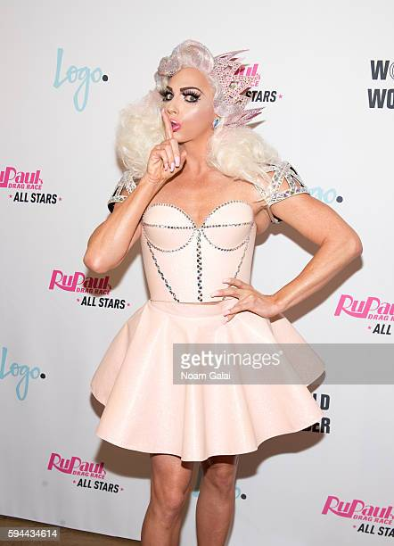 Alyssa Edwards attends the 'RuPaul's Drag Race All Stars' season two premiere at Crosby Street Hotel on August 23 2016 in New York City