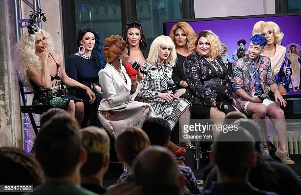 Alyssa Edwards Coco Montrese Detox Katya Tatianna Ginger Minj Roxxxy Andrews Phi Phi O'Hara and Alaska attend AOL Build to discuss RuPaul's Drag Race...