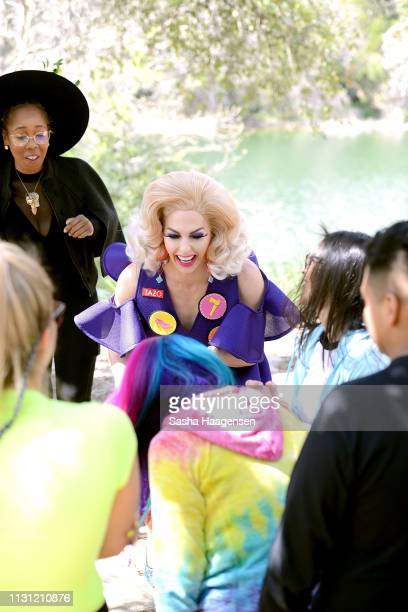 Alyssa Edwards gives pointers during group workshops at Camp TAZO an overnight camp where adults take a break from their routine and explore the...
