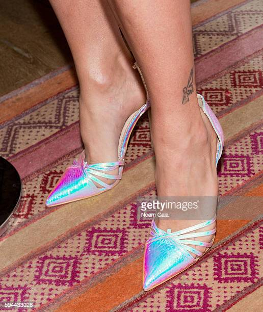 Alyssa Edwards shoe detail attends the 'RuPaul's Drag Race All Stars' season two premiere at Crosby Street Hotel on August 23 2016 in New York City