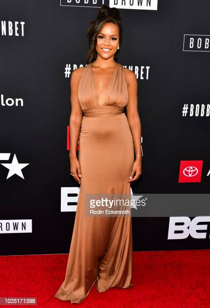 Alyssa Goss arrives at the premiere screening of The Bobby Brown Story at Paramount Theatre on August 29 2018 in Hollywood California